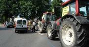 Les éleveurs bloquent les routes. Photo : N.Tiers/Pixel Image