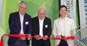 Le nouveau siège d'Agrauxine à Angers a été inauguré le 2 juillet 2019 en présence d'Antoine Baule, directeur général de Lesaffre, le maire de Beaucouzé (49)  et Hugo Bony, directeur général d'Agrauxine, fililale de Lesaffre. © M.-D. Guihard/Pixel6TM