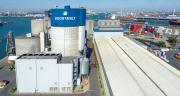 «Le site de Boortmalt d'Anvers s'agrandit. D'une capacité de 470000tonnes,  elle devient la première malterie mondiale.» © Axereal
