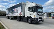 Après deux premiers camions roulant au bioGNC dès 2018,  la Cavac en a intégré deux supplémentaires en janvier 2021. Photo : Cavac