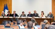Le plan d'actions phyto a été dévoilé ce 25 avril par Nicolas Hulot, Agnès Buzyn, Frédérique Vidal et Stéphane Travert. Photo : Cheick Saidou/Min.Agri.Fr