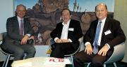 Pascal Viné (délégué général de Coop de France), Gérard Rodange (président de Coop de France Auvergne Rhône-Alpes) et Jean de Balathier (directeur). Photo : I. Aubert/Pixel image