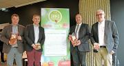 Gilbert Brouder, Pierre-Yves Jestin, Marc Keranguéven et Christophe Rousse veulent développer un logo commun de tomates « Cultivées dans pesticides ». CP : DR