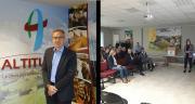 Stéphane Coyas, nouveau directeur de l'union Altitude, est arrivé en mars 2019. / Les groupes de travail ont bénéficié de l'appui méthodologique d'une consultante. CP :  Union Altitude