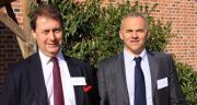 Nigel Day et Sylvain Ducroquet, respectivement président et vice-président de l'EMSA, lors de l'AG de l'association européenne des trieurs à façon. DR