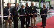 L'inauguration de l'atelier s'est faite en présence d'élus locaux et de responsables du groupe Bayer. © A.Lambert/Pixel Image