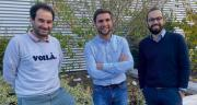 De gauche à droite : Vincent Guilhem de Pothuau et Pierre-Antoine Foreau, fondateurs de Biagri, accompagnés de Julien Malherbe, directeur digital de la Scael. CP : DR