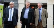 De gauche à droite : Jean-Michel Mignot, DG de la CAPL, Michel Legeay président, et Patrick Brémaud DGA de la coop. Photo O.Lévêque/Pixel Image