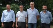 Les dirigeants d'Oxyane préparent un plan stratégique pour l'automne. De gauche à droite : Mathieu Staub, Georges Boixo, Thierry Josserand et Jean-Yves Colomb. CP : DR