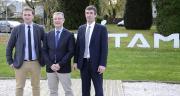Laurent Bué, un des trois vice-présidents, Cédric Cogniez, directeur général, et Bertrand Hernu, président d'Unéal. Photo : A. Cotens/Pixel image