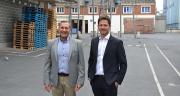 Thierry Liévin (à gauche) et Amaury Demeestere, respectivement directeur général et responsable commercial de Soufflet Alimentaire, ont rappelé la volonté de développer des productions en France. Photo : S.Bot/Média et Agriculture