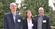 L'équipe De Sangosse composée (de gauche à droite) d'Olivier Grosjean, Aurélie Morin et Christophe Zugaj, accompagnera les distributeurs sur l'offre Polyversum. Photo : S.Bot/Pixel image