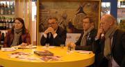 Rachel Blumel, directrice de Coop de France agroalimentaire, Michel Prugue, président de Coop de France, Dominique Chargé, président de la nouvelle section agroalimentaire Coop de France, et Pascal Viné, directeur de Coop de France. Photo : O.Lévêque/Pixel Image