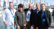 De gauche à droite : Luc Divais, chef marché biostimulants ; Jean Le Cam ; Marc André, directeur Tradecorp Europe ; Hugues Dumas, directeur Tradecorp France ; Franck Hennequart, spécialiste des algues marines. Photos : O.Lévêque