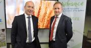 Le directeur de Valfrance Laurent Vittoz, à droite, accompagné de son président Christophe Grison. Crédit photo : Valfrance
