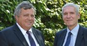 Jean-Yves Foucault, président (à gauche) et Daniel Chéron, directeur de Limagrain