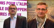 Jean-Sébastien Bailleux, directeur du Pôle partenaires agrofourniture InVivo, et Vincent Magdelaine, directeur métiers du grain chez Coop de France. Photo : O.Lévêque/Pixel Image