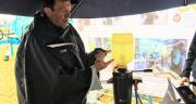 Lors des Culturales de Poitiers, la firme a de nouveau mis en avant le système ezi-connect, présenté par l'agriculteur beauceron Rémi Dumery. Photo O.Lévêque/Pixel 6TM