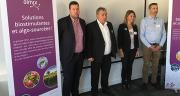 Hervé Balusson (second en partant de la gauche), P-DG d'Olmix Group, espère doubler le chiffre d'affaires de la division Plant Care en France d'ici cinq ans. M. Lecourtier/Pixel image