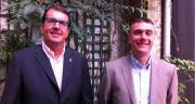 Dominique Jonville (à gauche) et Jérôme Tournier, responsables céréales chez BASF, ont dressé le bilan du marché des fongicides céréales 2015-2016 et les perspectives pour 2016-2017. Photo : S.Bot/Pixel image