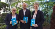 Carole Hernandez-Zakine, Antoine Poupart et Noëllie Hestin, les managers d'Agrosolutions ont présenté à la presse ce 11 avril la stratégie de diversification.