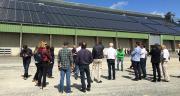 Le 1er juin, la coopérative Terre Atlantique a inauguré sa nouvelle centrale photovoltaïque sur son silo de Fontenet, au sud de Saint-Jean-D'Angély (Charente-Maritime). Photo Terre Atlantique