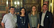 L'équipe de présentation du double SDHI de Bayer CropScience France : Jean-François Delorme, Fabienne Pouliquen, Constance Tuffet, Stéphane Carbonne. Photo : A.Lambert/Pixel image
