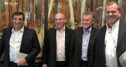 2015 by In Vivo, saison 4, de gauche à droite, Guillaume Darrasse (Dr In Vivo Retail); Frédéric Noyère, (Dr In Vivo Wines), Thierry Blandinières (directeur général In Vivo) et Laurent Martel (Dr Bioline by In Vivo). CP : H.Sauvage