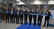 La nouvelle unité de conditionnement de Corteva Agriscience a été inaugurée le 19 septembre en présence de l'équipe dirigeante et des élus locaux. Photo : H.Flamant/Terroir Est.