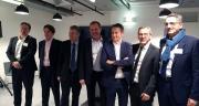 Thierry Blandinières, entouré des membres du Comex d'InVivo, a présenté les chiffres du groupe devant la presse le 19 décembre. ©S.Bot/Pixel Image