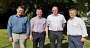 Les dirigeants de Sicapa et UTDF (de gauche à droite : Alain Frémy, Bertrand Hernu, Jean-François Gaffet et Emmanuel Frémy) annoncent le rapprochement de leurs structures. Photo : DR