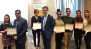 Les lauréats du prix imagin'maïs ont reçu une dotation de 2500 euros. Photo : A.Cotens/Pixel image