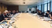 Le financement du projet de canal Seine-Nord Europe a franchi une étape majeure le 4 octobre lors d'une réunion à laquelle ont participé X. Bertrand, F. Desmedt, JC. Leroy, JR. Lecerf, L. Somon, G. Darmanin et JB. Djebbari. Photo : DR