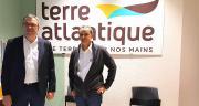 Christian Cordonnier, directeur de Terre Atlantique, et Jean-Yves Moizant, le président, lors du point presse le 23 novembre 2018. Photo S.Favre/Pixel Image