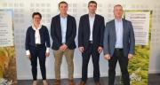 De gauche à droite : Anne Vandenbossche, Laurent Bué, Bertrand Hernu et Cédric Cogniez ont dévoilé leur nouvelle politique appro. Photo : S.Bot/ATC