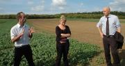 Nathael Leclech (Cral) et Séverine Piutti (Ensaia) ont présenté à Dominique Potier le réseau Dephy-Expé lorrain et les résultats obtenus à ce jour sur le site de la Bouzule.