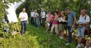 Une centaine de techniciens de la distribution et de la prescription ont découvert les résultats d'expérimentation d'Adama en vigne et arboriculture. Photo : DR