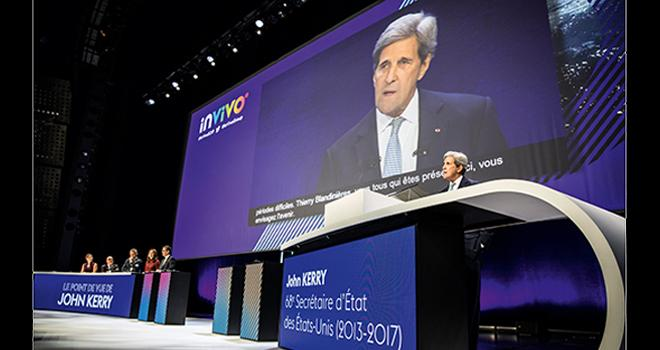 «Nous avons besoin de plus d'audace, de croire en nous, et faire le travail, en exploitant les technologies, le génie de l'innovation, la créativité de l'esprit humain et nous résoudrons ce problème», explique John Kerry. CP : Géraldine Aresteanu.