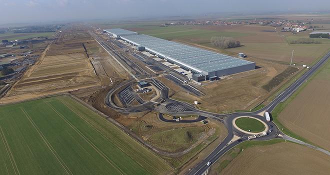 Avec un potentiel de 750000 m²  de cellules modulables sur plus  de 320 hectares, e-Valley se positionne comme le premier centre logistique multimodal d'Europe. Photo : e-Valley