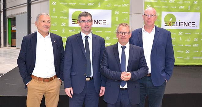 Les dirigeants du groupe Advitam, Natup, Noriap et Semences de France ont inauguré la nouvelle station de semences Exelience située à Avesnes-lès-Bapaume (62). Photo : S.Bot/ATC