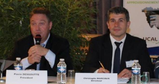Pierre Desgouttes, président, et Christophe Marcoux, directeur, ont présenté le plan stratégique de Val'Limagne.coop. Photo : Corine Jasserand