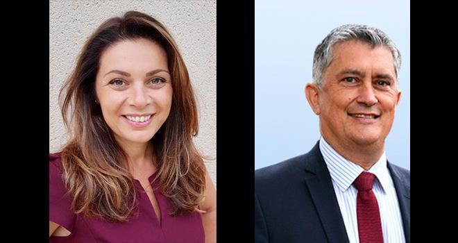 Anne Azam et Bruno Baranne ont détaillé la stratégie de Syngenta France qui repose sur les semences, sur le biocontrôle et sur le digital. Photos : DR
