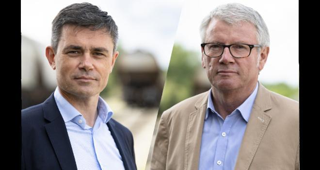 """""""L'ensemble du projet devrait permettre une augmentation conséquente de la performance"""", expliquent Paul-Yves L'Anthoën (à gauche) et Jean-François Loiseau. CP : Axéréal"""