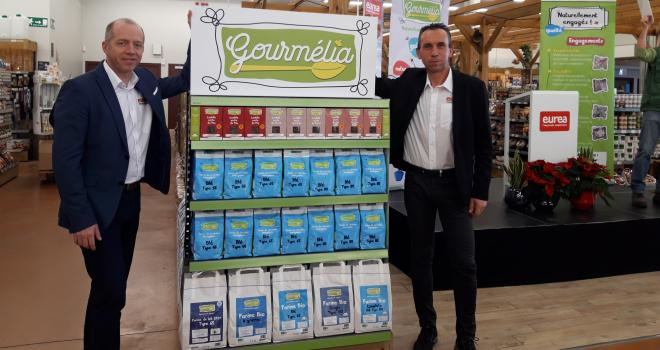 Bertrand Relave (directeur d'Eurea) et Christophe Chavot (président) présentent la nouvelle marque alimentaire du groupe. CP : DR.