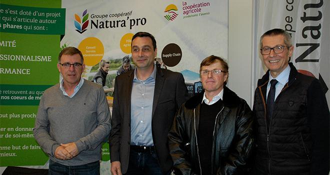 (De gauche à droite) : François Martel, Christophe Devos, Bernard Comte et Sylvain Robinet. Photo : I. Aubert/Pixel6TM