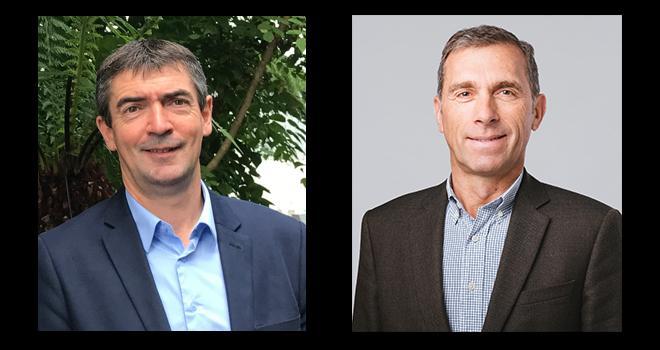 Pour Bertrand Hernu (à gauche) et Christophe Cannesson, dirigeants du groupe Advitam, Prise Direct' permet de soutenir les adhérents d'Unéal et de recréer du lien direct avec les consommateurs. Photos : DR