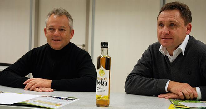 François Pignolet, directeur de la coopérative COC, et Philippe Delafond, le président. Photo O.Lévêque/Pixel6TM