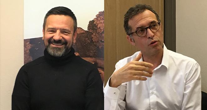 Jean-Yves Colomb (président de la coopérative Dauphinoise) et Georges Boixo (directeur) vont mettre au vote la fusion avec Terre d'Alliances en 2020. CP : DR