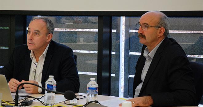 Thierry Lafaye, le directeur, et Philippe Delusset, le président d'Océalia. Photo O.Lévêque/Pixel6TM