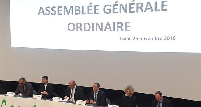 Coop de Creully/La coopérative de Creully a réalisé 92 millions d'euros de chiffre d'affaires en 2017-2018.
